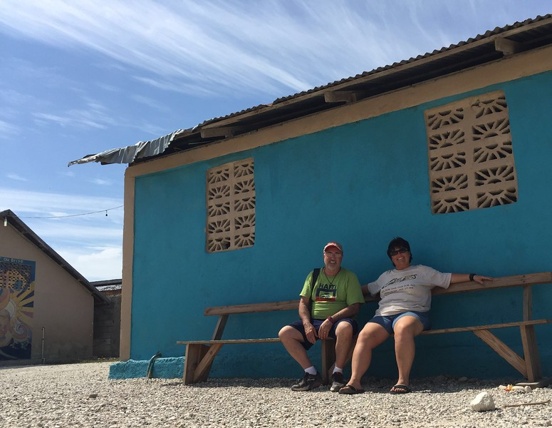 Jim & Rhonda having a moment to themselves just prior to leaving the orphanage.