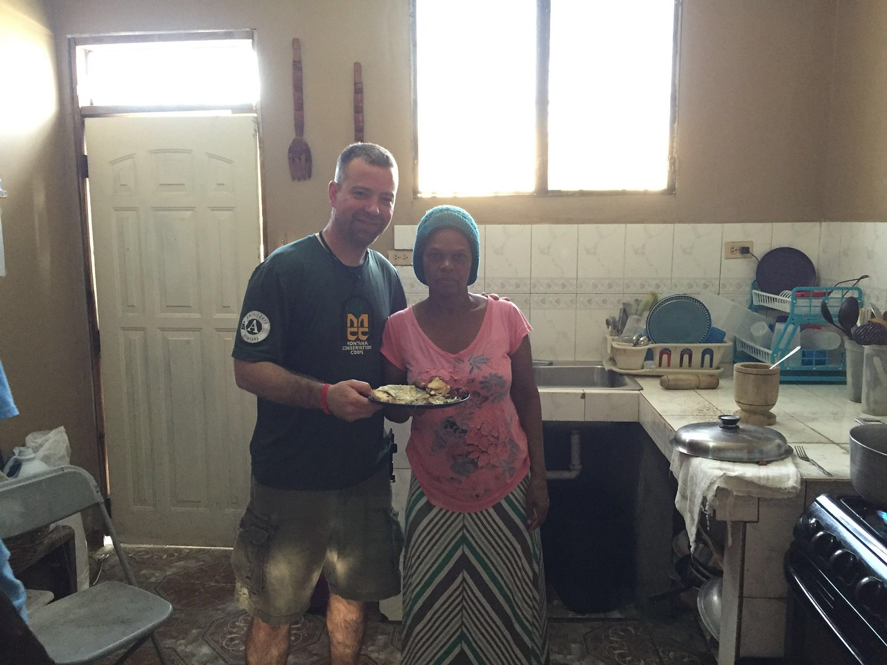 Day #8<br /> Our last morning at the team house.<br /> I made Mikula breakfast (again).<br /> I made her eggs, fried potatoes w/ green peppers and onion last year, and when I asked her if I could make her breakfast again, she put in the same order.