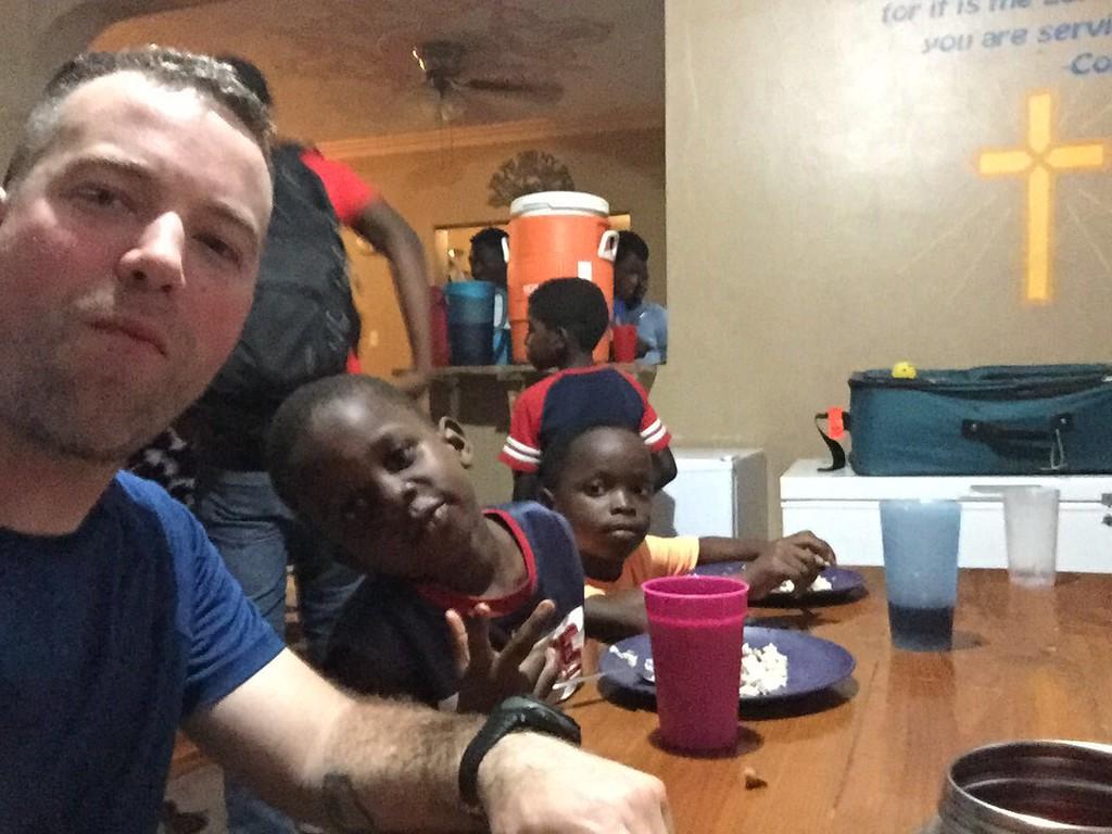 Day #3<br /> Dinner at the team house. <br /> Me, Stevenson, Luckson