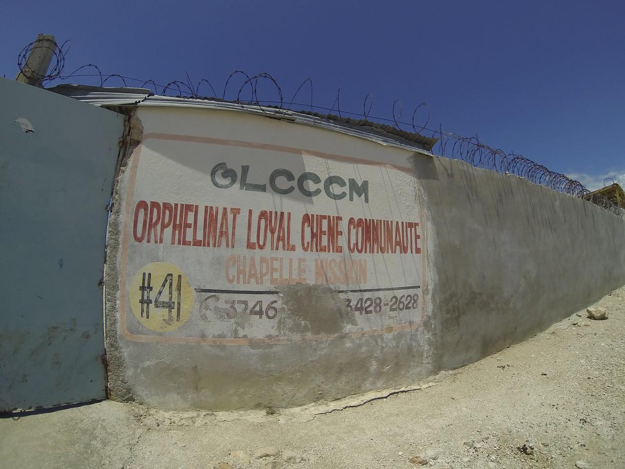 Orphanage wall