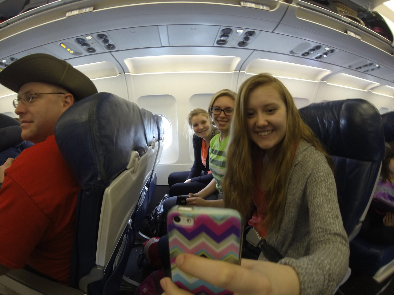 Passing the time during our hour (yes, that's right, an HOUR) wait to take off.<br /> Charlotte to Florida