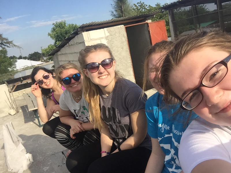 DAY 1 <br /> Some of our youth group kids on the team house roof.<br /> <br /> *Photo credit: Emma Hicks