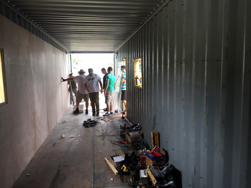 DAY 5<br /> Installing plywood walls
