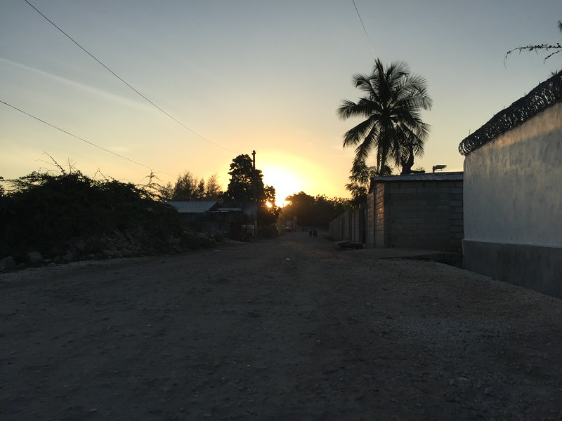 DAY 10<br /> Sunrise on the street in front of the team house