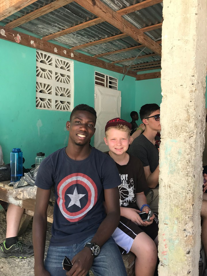 DAY 6<br /> Part of our team visiting Ne-Ne's orphanage.<br /> Stevens and Luke<br /> <br /> *Photo credit: