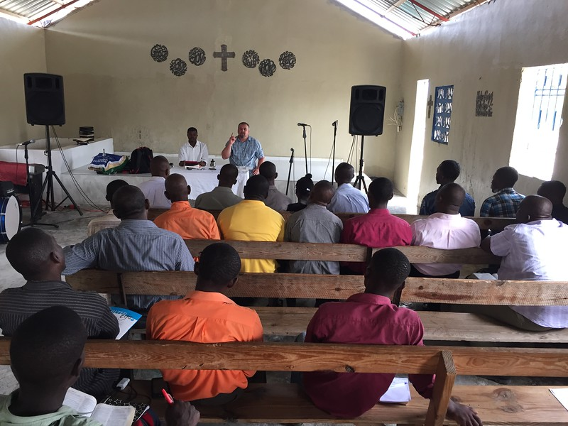 DAY 7<br /> Scot leading a pastor's conference on Saturday at the orphanage church.