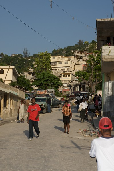 Street seen up in the hills above Port au Prince.