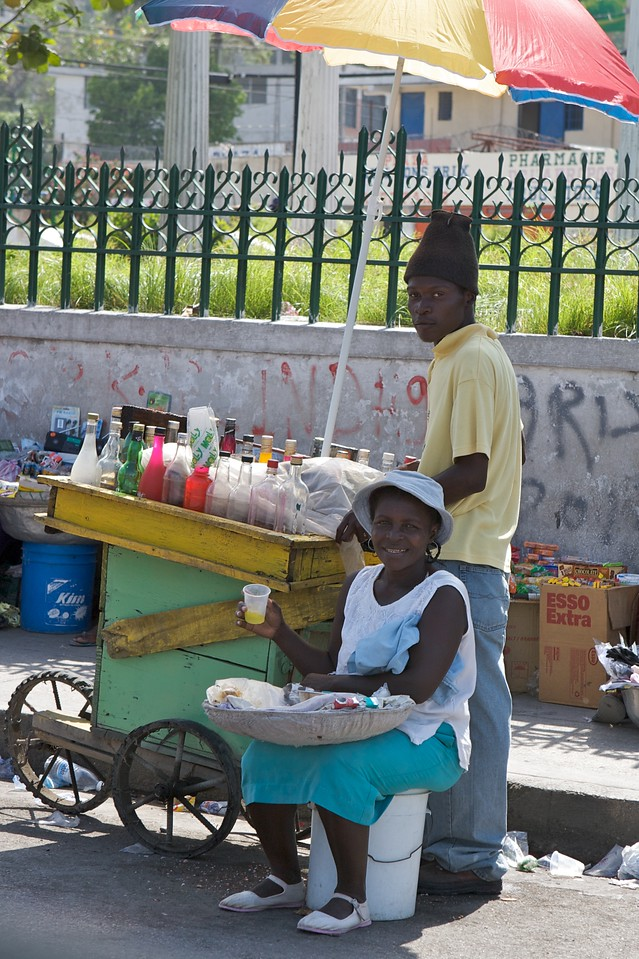 One of the thousands of street vendors with their rolling carts.   This one happened to be one of the more operational and clean ones we had seen.
