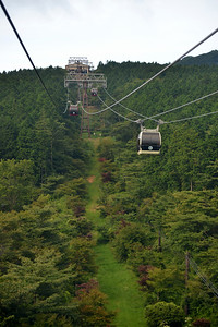 The Hakone Ropeway (箱根ロープウェイ) is the aerial lift. The funitel line links between Sōunzan and Tōgendai via Ōwakudani, all within Hakone, Kanagawa, Japan. The line became funitel in 2002, the second of its kind in the nation, after Hashikurasan Ropeway. It makes a part of the sightseeing route between Odawara and Lake Ashi.  Hakone (箱根町) is a town in Ashigarashimo District in Kanagawa Prefecture, Japan. Hakone is located in the mountainous far west of the prefecture, on the eastern side of Hakone Pass. Most of the town is within the borders of the volcanically active Fuji-Hakone-Izu National Park, centered around Lake Ashi. Hakone is the location of a noted Shinto shrine, the Hakone Gongen, which is mentioned in Heian period literature. Hakone is noted for its onsen hot spring resorts, which attract both Japanese and international visitors due to its proximity to the greater Tokyo metropolis and to Mount Fuji. Hakone is a very popular tourist destination and best accessed from Odawara.