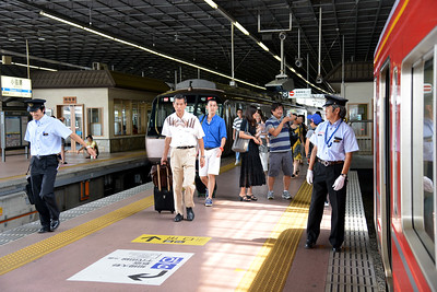 Odawara Station (小田原駅) is a railway station in Odawara, Kanagawa, Japan. It is a gateway station to the Hakone area. Well connected by train and bus.  Hakone (箱根町) is a town in Ashigarashimo District in Kanagawa Prefecture, Japan. Hakone is located in the mountainous far west of the prefecture, on the eastern side of Hakone Pass. Most of the town is within the borders of the volcanically active Fuji-Hakone-Izu National Park, centered around Lake Ashi. Hakone is the location of a noted Shinto shrine, the Hakone Gongen, which is mentioned in Heian period literature. Hakone is noted for its onsen hot spring resorts, which attract both Japanese and international visitors due to its proximity to the greater Tokyo metropolis and to Mount Fuji. Hakone is a very popular tourist destination and best accessed from Odawara.