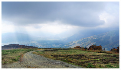 Rain in the valley, but fortunately we didn't get any on the mountain.