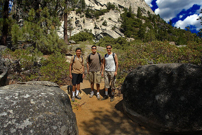 Ready to start again after a lunch at Nevada Falls.