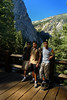Pavan, Kiran and I at the base of Vernal Falls, about 0.8 miles from the start.