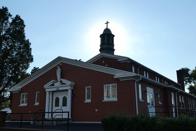 The outside of the church.