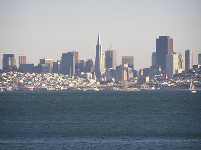 San Fransisco during the Day. View from room in Sausolito