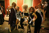 Drag Queens Galore - Cindy fits right in with them - Halloween in New Orleans - Photo by Pat Bonish