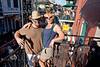 Cindy & Pat On the Balcony over Bourbon Street - Photo by Luz Kraujalis