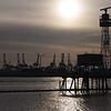 Gegenlichtstimmung am Hafen