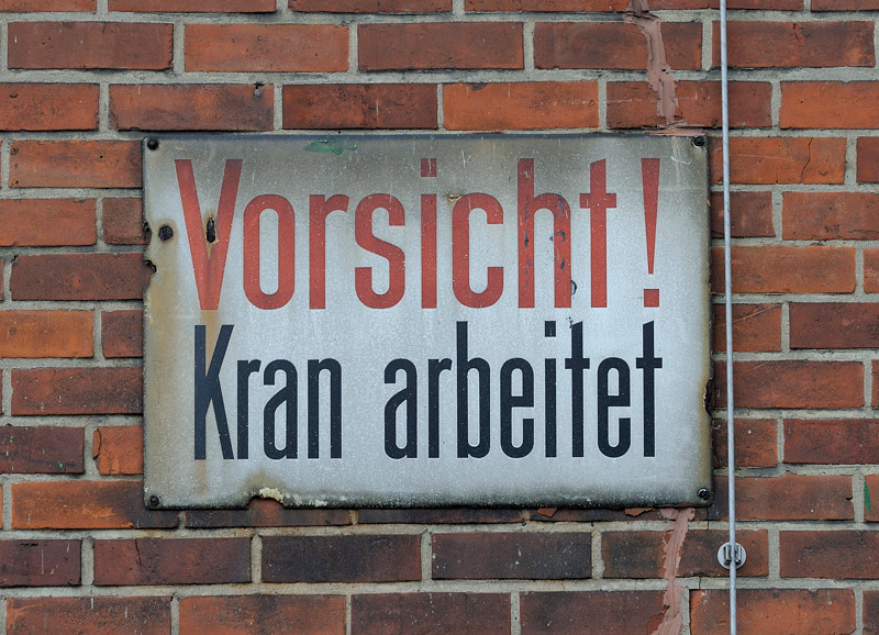 2011-03-09. Kranvarning, Hafenmuseum. Hamburg [DEU]