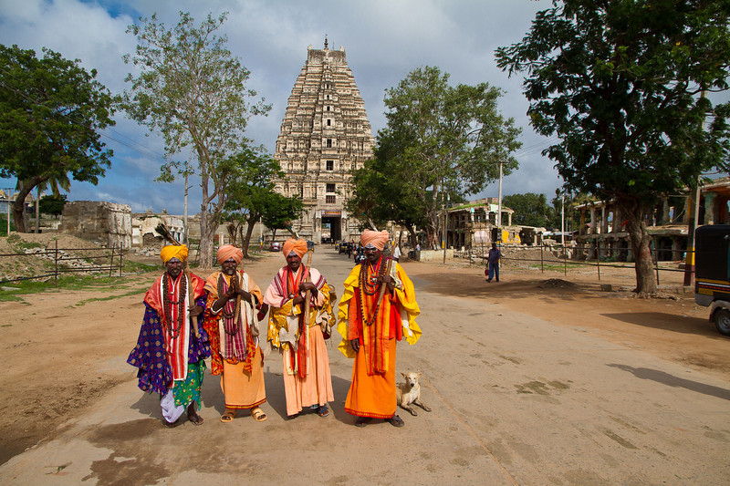 """Magic Babas"" in front of Virupaksha Temple"