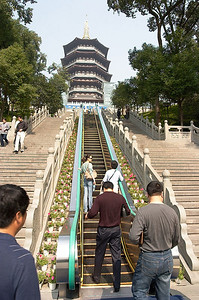 The Lei Feng Tower. In the White Snake folk story, the White Snake was trapped beneath the tower.
