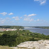 View of Hannibal, Missouri and the Mississippi River from Lover's Leap