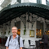 Terry outside the historic Metropole Hotel.