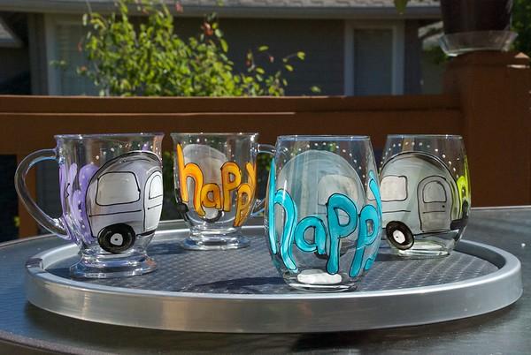 Happy Camper mugs & glasses