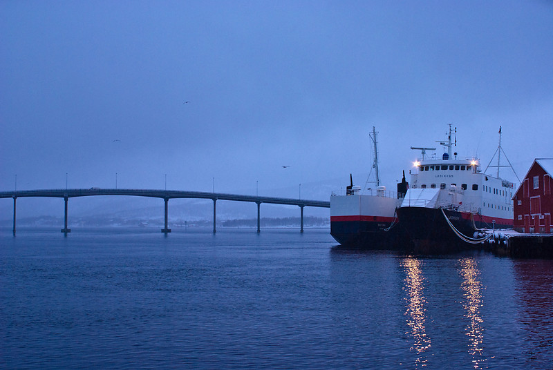 Ferries at rest <br /> Stokmarknes