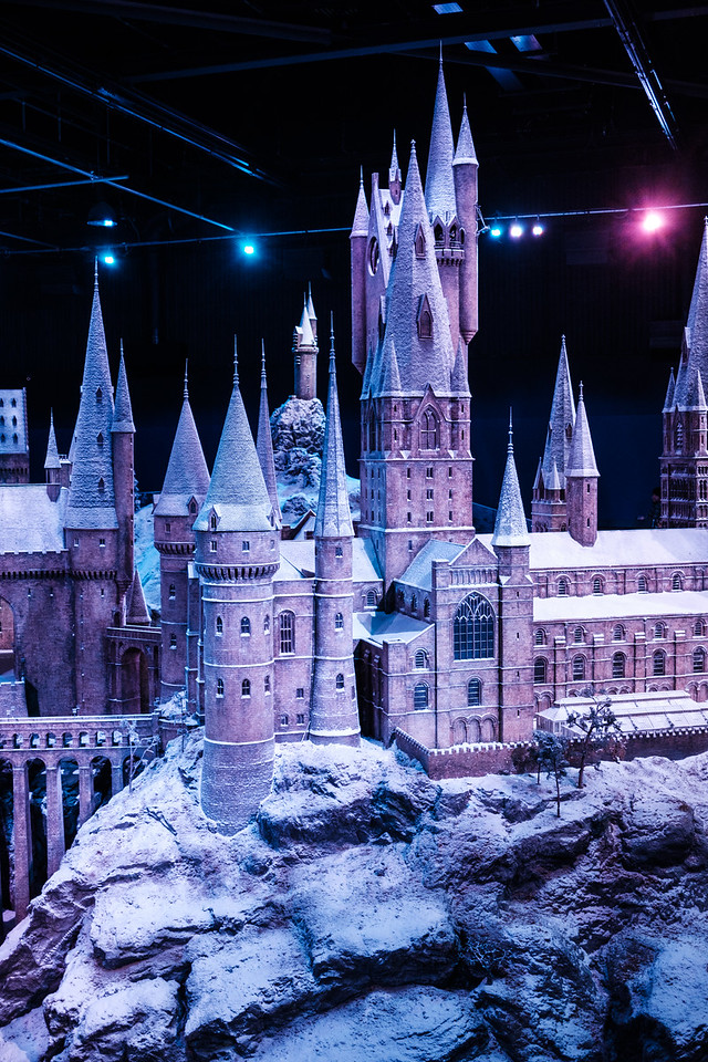 Gorgeous massive miniature model of Hogwarts used for exterior shots
