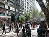 Pedestrian-only street in Santiago.