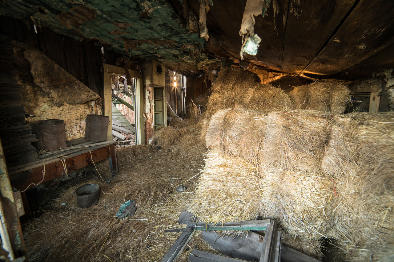 inside abandoned farm