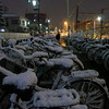 Snow early in the week covers those bikes.