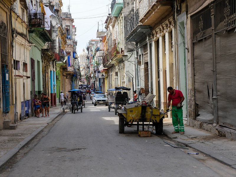 Man at work, Old Havana, Cuba, June 11, 2016.