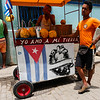 Fruit juice vendor, Old Havana, Cuba, June 11, 2016.