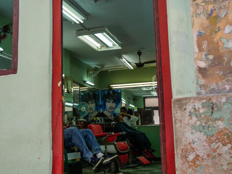 Barber shop, Old Havana, Cuba, June 11, 2016.