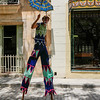 Stilt walker, Old  Havana, Cuba, June 11, 2016.