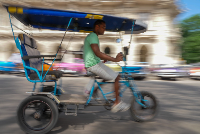 Bicitaxi,  Havana, Cuba, June 11, 2016.