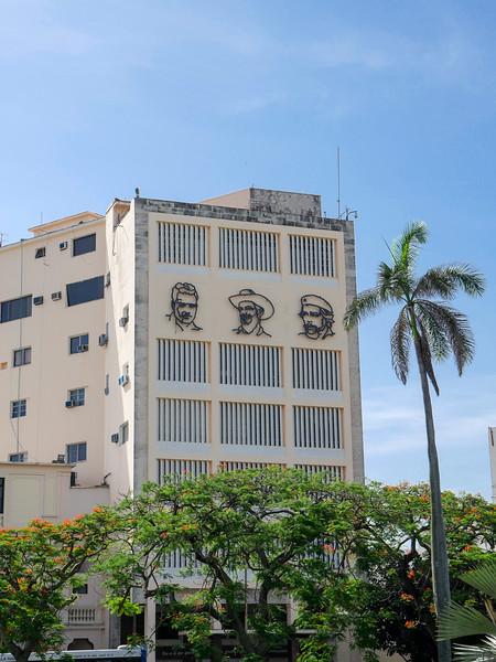 Near the entrance to the Museo de la Revolución (Museum of the Revolution), Havana, Cuba
