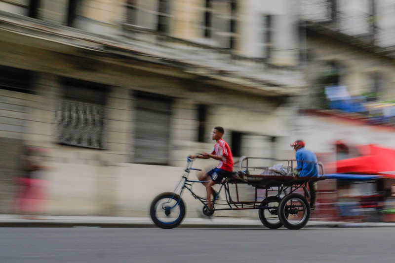Bicitruck, bicycle truck, Havana, Cuba, June 11, 2016.