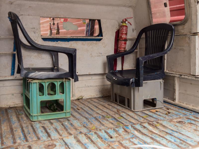 Seats two. Calle de Los Mercaderes,  Havana, Cuba, June 2, 2016.
