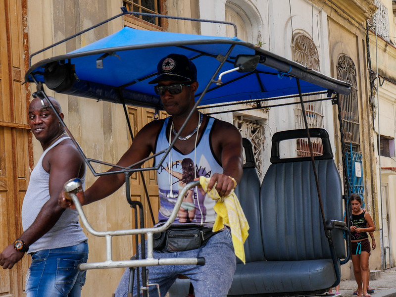 """California Love"", Bicitaxi, bicycle taxi, Havana, Cuba, June 11, 2016."