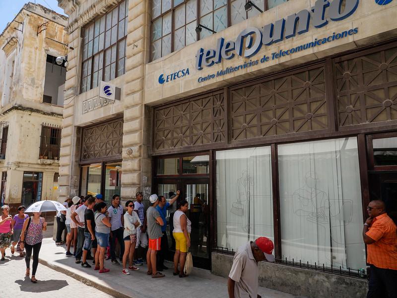 Cuba is a country of lines, Old Havana, Cuba, June 11, 2016.