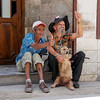 Two men and a dog, Old Havana, Cuba, June 11, 2016.