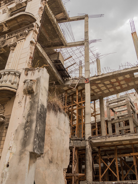 Rebuilding. Calle de Los Mercaderes,  Havana, Cuba, June 2, 2016.