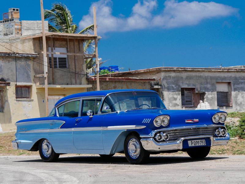 Bel Air parked in Cojimar, Cuba, June 11, 2016.