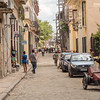 Views along Calle de Los Mercaderes,  Havana, Cuba, June 2, 2016.