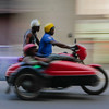 Motor cycle and side car, Havana, Cuba, June 11, 2016.