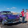 Katia, Driver and '57 Chevy we used to tour Havana, Cuba, June 2, 2016.