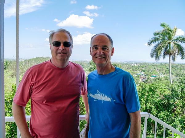 View from Hemingway's office in the tower.  Museo Hemingway, Finca Vigia, Havana, Cuba, June 11, 2016.